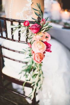 Floral Wedding Aisles Whimsical Wonderland Weddings / Happy Wedd / Rock My Wedding / Rustic Wedding Chic Wedding Chair Decorations, Wedding Chairs, Wedding Table, Wedding Pews, Wedding Church, Centerpiece Wedding, Wedding Venues, Perfect Wedding, Dream Wedding