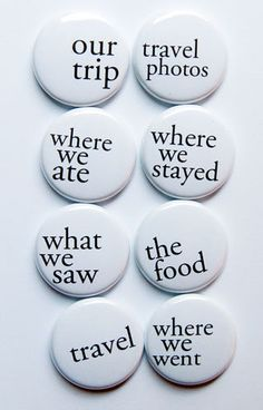 Travel Phrases 2 Flair by aflairforbuttons on Etsy