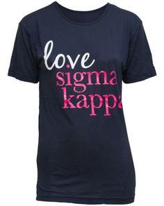 Sigma Kappa Love Viscose Tee