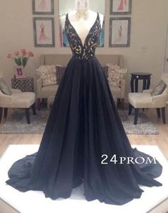 pretty black chiffon lace long prom dress 2016 for teens, unique cute long backless evening dress