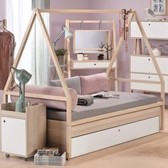 Spot Kids Tipi Bed And Trolley With Trundle Drawer