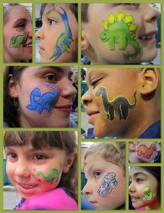 dinosaur face paint designs