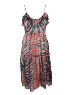 Raquel Allegra Womens Red Navy Silk Tie Dye Raw Edge Trim Dres 0, discovred by http://pinscanner.com/?ref=pinit-20130131001254b6cccc84a3b7e5c696e67c9ef656e-0001