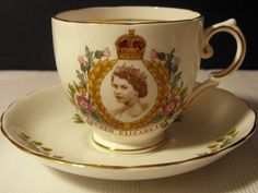 Coronation Tea Cup & Saucer for Queen Elizabeth