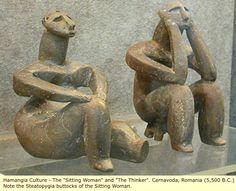 "The ""Sitting Woman"" and ""The Thinker. Cernavoda, Romania (5,500 B.C.)"