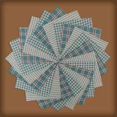 40 Ginger Blue Homespun 5 inch Quilt Squares $6.99