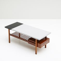 Van Den Berghe - Pauvers coffee table - Black and light grey formica table top.