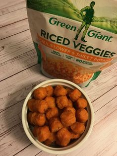 It's #MeatlessMonday! Be sure to try my tasty yet healthy #Vegan Cauliflower Sweet Potato Tots featuring Green Giant​ riced veggies! https://healthyvoyager.com/cauliflower-sweet-potato-tater-tots/ #ad #VeggieSwap