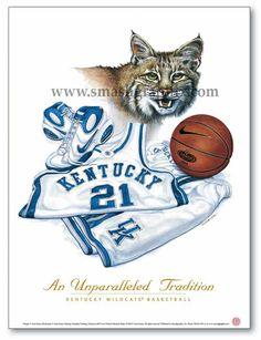 UK Wildcats Basketball An Unparalleled Tradition Sports Art Print Kentucky College Basketball, Uk Wildcats Basketball, Kentucky Sports, I Love Basketball, Basketball Players, College Football, University Of Kentucky, Kentucky Wildcats, Go Big Blue