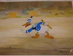 Production Cel of Donald Duck from The Band Concert