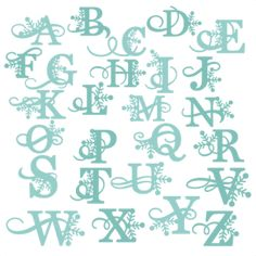 Winter Alphabet SVG