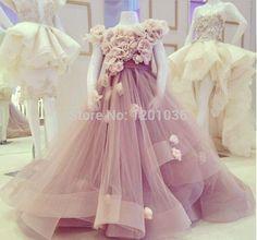 2015 первое причастие платья для девочек бальное платье рукавом лаванда платья для свадеб дети конкурс красоты купить на AliExpress