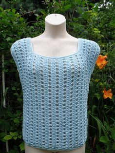 #Crochet Easy Womens Ladies Top Blouse Shirt #TUTORIAL