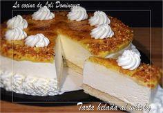 Tarta helada al whisky, riquísima y totalmente casera, una tarta ideal para el final de una comida o cena de fiesta, pruébala no lo dudes porque es una pura delicia!!  (Si te gustan mis recetas dale a ME GUSTA y comparte)   Receta en mi Blog: http://lacocinadelolidominguez.blogspot.com.es/2015/08/tarta-helada-al-whisky.html Videoreceta en You Tube: https://www.youtube.com/watch?v=2LsG8TEBBUk