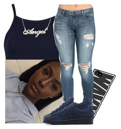 """..."" by xtiairax ❤ liked on Polyvore featuring adidas Originals"
