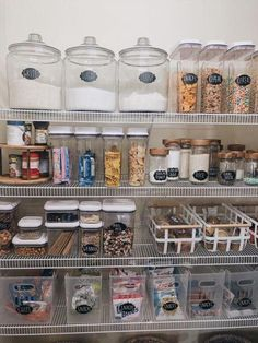 """How To Create The Perfectly Organized Pantry Our pantry went from chaotic and not functioning well for our family to one that is clutter free, pretty, and perfectly functional. This transformation has now ignited my desire to tackle other """"eye sores"""" and Kitchen Organization Pantry, Pantry Storage, Kitchen Pantry, Organizing Ideas, Organization Hacks, Kitchen Storage, Organized Pantry, Pantry Ideas, Pantry Shelving"""