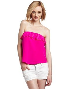 Amanda Uprichard Women's Ruffle Crop Top