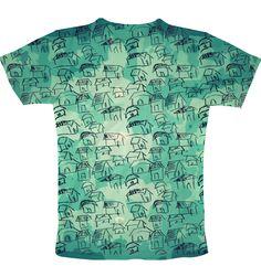 blue sketch T-Shirt