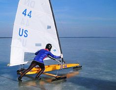 "Mechanical engineer Stefan Dalberg is designing an iceboat that uses wings in place of the traditional sail, aimed at setting records in the sport. ""I might face doing wind tunnel testing, virtual wind tunnel testing, aerodynamic testing. Patience is required and continuing to adjust,"" he said."