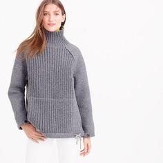 J.Crew - Collection wool-neoprene knit turtleneck sweater