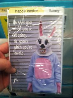 Creepiest Easter card you'll see today (via @ThePoke)