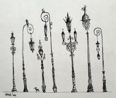 French style street lamps