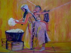 womens work in pastels
