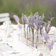 Lavender centre pieces