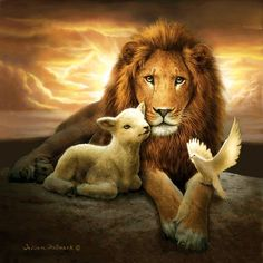 Trinity of Peace Jigsaw Puzzle - Jesus Quote - Christian Quote - Trinity of Peace Jigsaw Puzzle The trinity of peace. The post Trinity of Peace Jigsaw Puzzle appeared first on Gag Dad. Art Prophétique, Image Jesus, Lion And Lamb, Tribe Of Judah, Jesus Pictures, Heaven Pictures, Bible Pictures, Lamb Pictures, Prophetic Art
