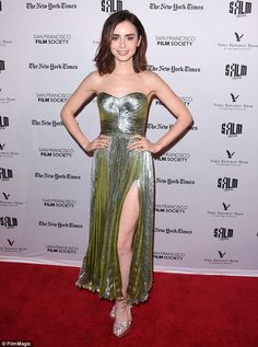 Lilly Collins at the Rules Don't Apply premiere