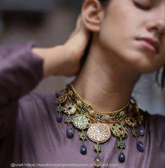 Royal Jewelry, Indian Jewelry, Beaded Jewelry, Jewellery, Jewelry Closet, Gold Wedding Jewelry, Simple Jewelry, Antique Jewelry, Fashion Jewelry