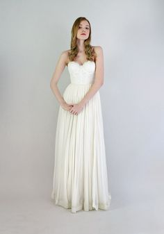 Lace strapless dress from Leanne Marshall Bridal Collection  | www.onefabday.com