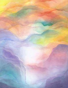 Méthode Margareth Hauschka Technique aquarelle d'humide en humide Pédagogie Waldorf inspirée de Rudolf Steiner contact Hélène EM