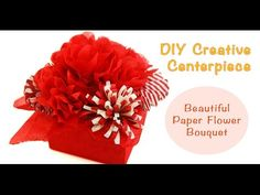 Are you planning a party and looking for an idea for table centerpiece? Here is a fun and easy way to create a beautiful centerpiece using decorative papers ...