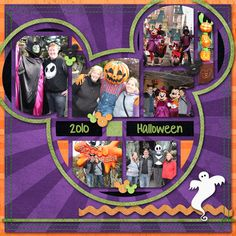 Disney Halloween scrapbook layout