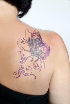Sündige Haut Tattoo . Suendige Haut Tattoo . Cover up tattoo . Butterfly Tattoo