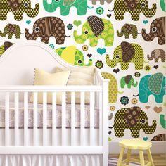 Papel de parede adesivo elefantes - StickDecor | Decoração Criativa