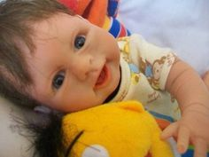 OOAK BABY DOLL, POLYMER CLAY ART DOLL, CHRISTOPHER BY JANE LUCAS