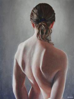 "Saatchi Online Artist: Elizabeth A Adams; Oil, 2012, Painting ""Standing Nude (2012)"""