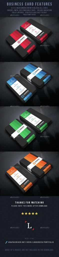 Color Shade Business Card Template PSD. Download here: http://graphicriver.net/item/color-shade-business-card/14917157?ref=ksioks
