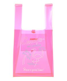CANDY'S VACATION CLEAR TOTE BAG(NEON PINK-F)