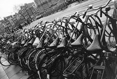 Row of infinite bikes!
