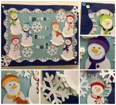 Speech Room Bulletin Board - Winter Theme!  Do you wanna build a snowman?!