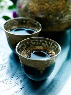 delicious arab tea with almond-filled dates via Gypsy Village