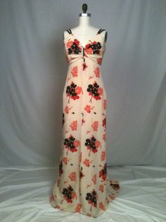 Silk Print Evening Gown by GreenBowDesigns on Etsy, $750.00