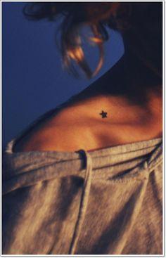 collar bone tattoos star