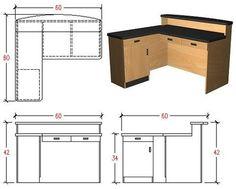 Space-Saver 5'x5' Reception Desk/Counter