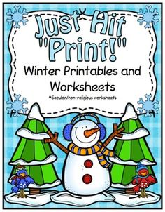 Winter Printables and Worksheets