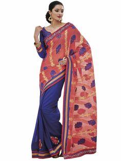 Melluha Embellished Jacquard Half and Half Saree