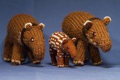 Ravelry: Tapirknit's Baird's Tapirs for Proyecto Tapir Nicaragua